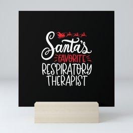 Christmas Respiratory therapist, therapy Mini Art Print