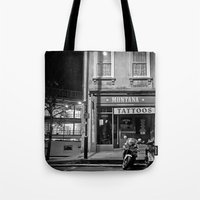 montana Tote Bags featuring Montana Tattoos by Melissa Batchelder Photography