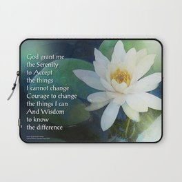 Serenity Prayer Lotus One Laptop Sleeve
