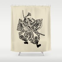 samurai Shower Curtains featuring Samurai by Scalifornian