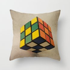 Cube of Rube Throw Pillow