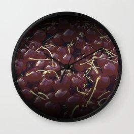 cherries pattern reaclifn Wall Clock