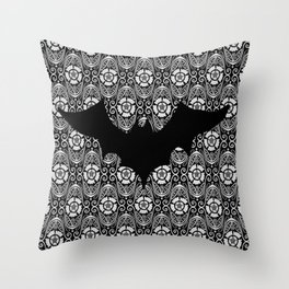 Batty Throw Pillow