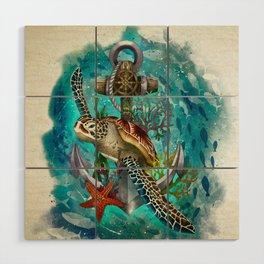 Turtle and Sea Wood Wall Art