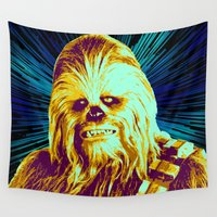 chewbacca Wall Tapestries featuring Chewbacca by victorygarlic - Niki