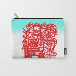 Cut Paper Elephant Carry-All Pouch
