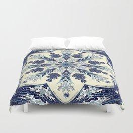 Deconstructed Waves Mandala Duvet Cover