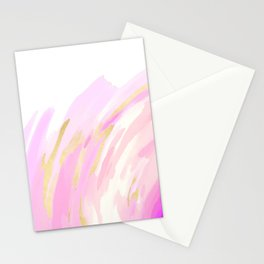 Pink & Gold Hurricane Stationery Cards