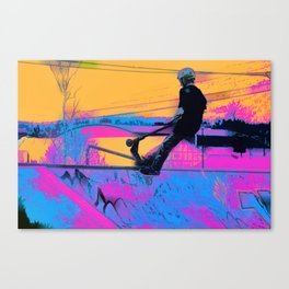 On Edge -  Stunt Scooter Artwork Canvas Print