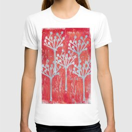 red dot tree forest T-shirt