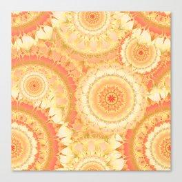 Delicate Mandala Pattern orange Canvas Print