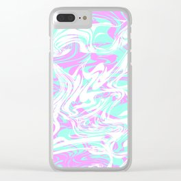 Smoked Up Oceans Clear iPhone Case
