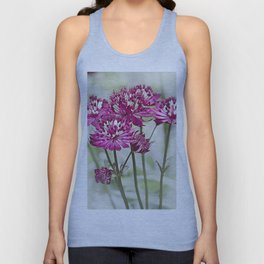 Pink Flowers in the Mist Unisex Tank Top