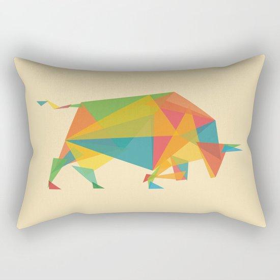 Fractal Geometric Bull Rectangular Pillow