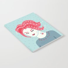 Portrait Of A Girl With Pink Hair Notebook