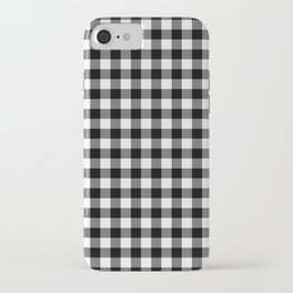 Gingham Pattern - Black & White iPhone Case