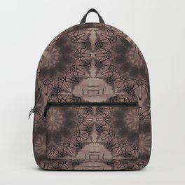 Black and brown abstract pattern . Backpack