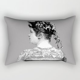 Tattooed Victorian Woman Rectangular Pillow