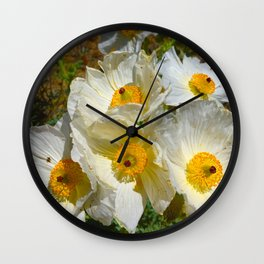 Mexican Poppies Wall Clock