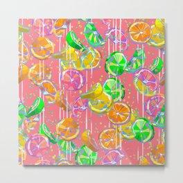 Pop Art Citrus Fizz  Metal Print
