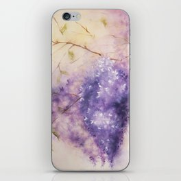 Wisteria Branch, Watercolor iPhone Skin