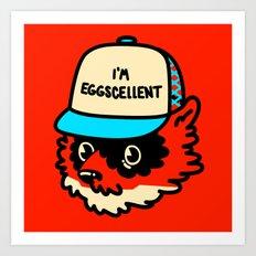 Eggscellent Art Print
