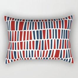 Patriotic red and blue Rectangular Pillow