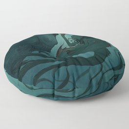 The day a mermaid found a shipwreck Floor Pillow
