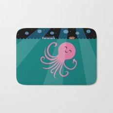Octopus Selfie at Night Bath Mat