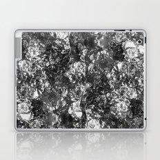 Moon Rock - Abstract, metallic silver textured lunar pattern Laptop & iPad Skin