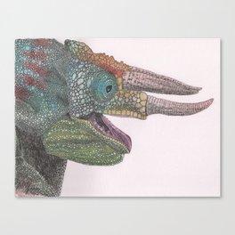 Happy Chameleon (watercolor) Canvas Print