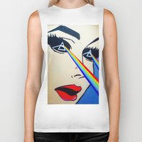 floyd Biker Tanks featuring Pink Floyd by Gabrielle Wall