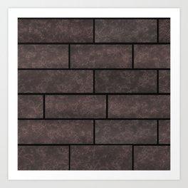 Brick wall, brick #stone #stonewall #loft Art Print