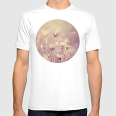Winter Queen Anne's Lace  Mens Fitted Tee MEDIUM White