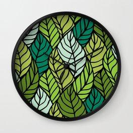 Flowing Leaves Wall Clock