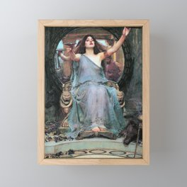 John William Waterhouse - Circe Offering The Cup To Odysseus - Digital Remastered Edition Framed Mini Art Print