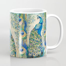 Blue Peacocks Coffee Mug