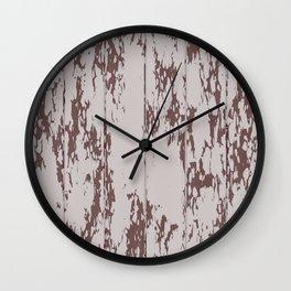 Weathered Wood Paneling 02 Wall Clock