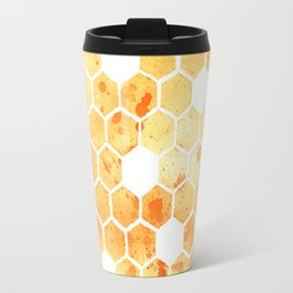 Golden Honeycomb Travel Mug