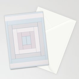 Modern Life Mauve Blue Stationery Cards