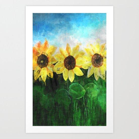 Sunflower2 Art Print