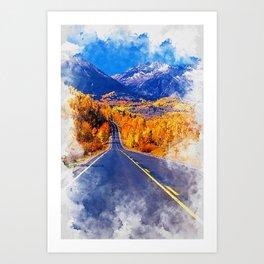 Colorado Highway Art Print