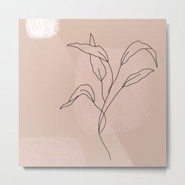 Minimalist Flower Metal Print