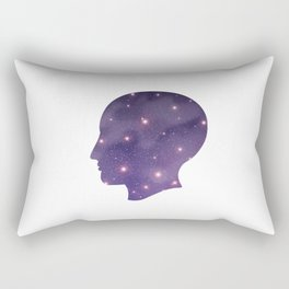 Universe in the head Rectangular Pillow