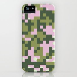 Camo pixel iPhone Case