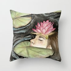 Heavy Crown watercolor Throw Pillow