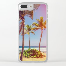 Tropical Breezes Clear iPhone Case