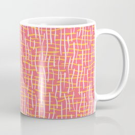 Pink Woven Burlap Texture Seamless Vector Pattern Coffee Mug