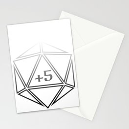 d20 Plus 5 Anything Stationery Cards