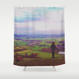 Wandering Britain Shower Curtain